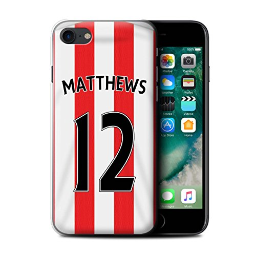 Offiziell Sunderland AFC Hülle / Case für Apple iPhone 7 / Rodwell Muster / SAFC Trikot Home 15/16 Kollektion Matthews