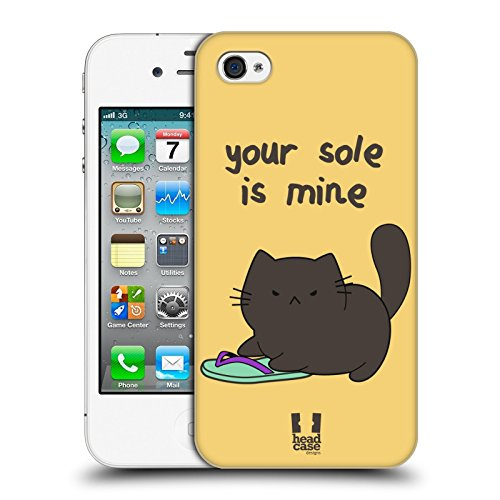 Head Case Designs Your Sole Is Mine Ceiling Cat Vs Basement Cat Ruckseite Hülle für Apple iPhone 4 / 4S