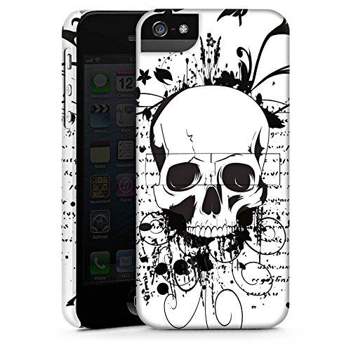 Apple iPhone 4 Housse Étui Silicone Coque Protection Crâne Crâne Ornements CasStandup blanc