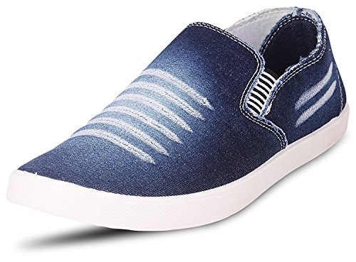Zaiva Men's Blue Casual Loafer and Sneaker Shoe (8, Blue)  available at amazon for Rs.198