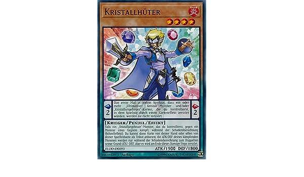 Auflage Deutsch 1 Yu-Gi-Oh Kristallh/üter FLOD-DE093 Common