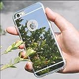 Carcasa resistente a golpes de material gel TPU para IPhone 6 Plus con diseño de espejo