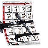 POWRX–Barra de dominadas para Montaje en Pared, Incluye Material de fijación e Instrucciones, MAX. Soporta hasta 120kg