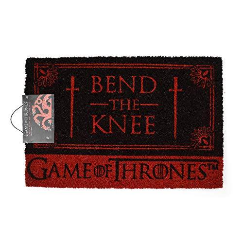 Game Of Thrones Bend The Knee Door Mat Felpudo