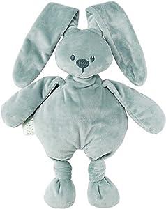 Nattou  Lapidou Conejo de peluche , Compañero desde el nacimiento, 36 cm, Verde-gris