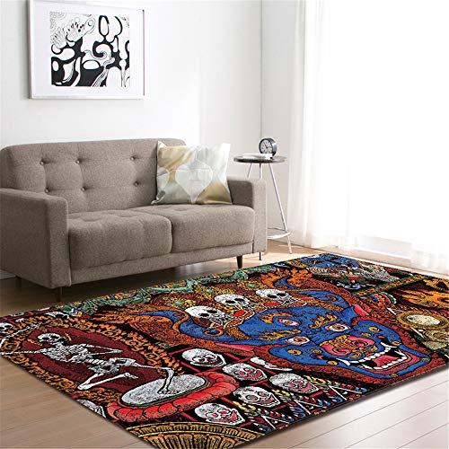 Teppich Wohnzimmer Minimalistischen Mehrfarbig Hause Schlafzimmer Verdickung Waschbar (Teppich 04,147x203cm) ()