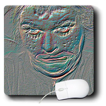3drose 20,3x 20,3x 0,6cm Maus Pad ein geprägtes Halloween Clown Gesicht, das ist Pretty Scary und Weird (MP 52586_ 1)