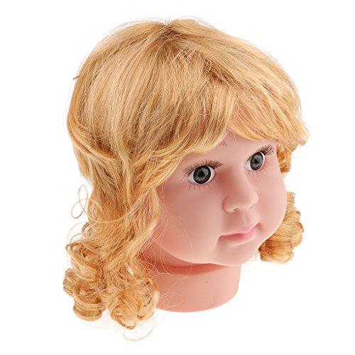 MagiDeal Baby Kind Schaufensterpuppe Schaufenster Dekokopf mit Perücke, hübsch Modellkopf, niedlich für Kinder Brillen Hüte Mütze Präsentation - Mädchen