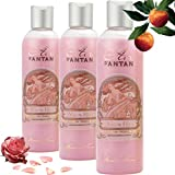 Set x3 Premium Rose French Vintage Shower Gel Women Pack 3x250ml,Rose, Peach, Patchouli - Un Air d'Antan Exclusive Sweet Glamourous Perfume, Moisturising Paraben-Free Formula, Nice Idea for a Gift