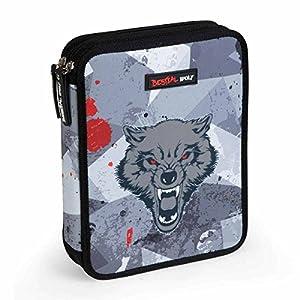 Dis2 – Plumier Lapices Doble Bestial Wolf Dis2 Negro