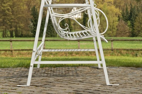 CLP 2 Sitzer / 3 Sitzer Garten Hollywoodschaukel AIMEE, Landhaus-Stil, Metall (Eisen) antik-weiß - 6