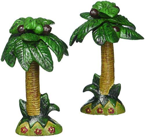 Design Toscano Tropische Kokospalme, Flaschenöffner aus Eisenguss: 2er-Set