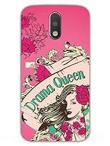 Moto G4 Plus Back Cover - MTV Gone Case - I Love Drama - Drama Queen - Pink - Designer Printed Hard Shell Case