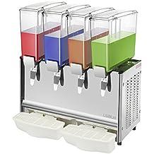 Cablematic - Máquina dispensadora de zumos y bebidas frías comerciales de 9L x 4 tanques