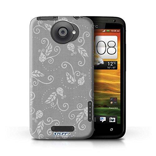 Kobalt® Imprimé Etui / Coque pour HTC One X / Jaune conception / Série Motif Coccinelle Gris