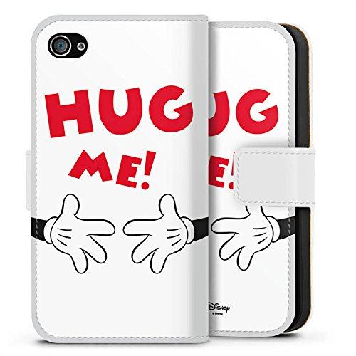 Apple iPhone X Silikon Hülle Case Schutzhülle Disney Mickey Mouse Fanartikel Geschenk Sideflip Tasche weiß