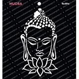 "Mudra Stencils -Buddha -""6x6"" - for DIY Home Decors, Crafts & Mixed Media"