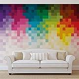 Regenbogen Muster Pixel - Forwall - Fototapete - Tapete - Fotomural - Mural Wandbild - (1482WM) - XL - 208cm x 146cm - VLIES (EasyInstall) - 2 Pieces