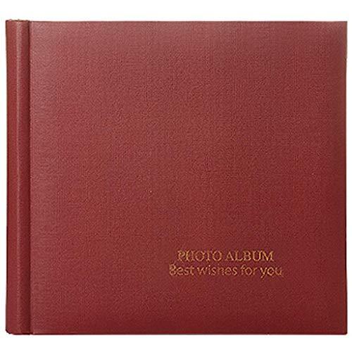 lquide Fotoalbum Große Hochzeit DIY Interstitial, 100 6X4 Schwarze Karte Babywachstumsrekord Abschlussalbum Fotos Tourismus Liebe (Farbe: Rot) -