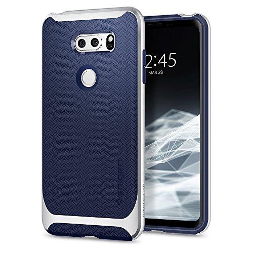 Spigen A25CS22002 Neo Hybrid LG V30 / LG V30 Plus / LG V30S ThinQ Hülle Premium Dual Layer Schutzhülle Case Satin Silver
