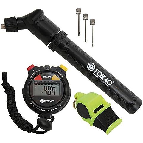 Fox 40arbitro calcio, sport Kit di accessori (Cronometro, Pompa, fischietto)