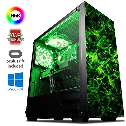 VIBOX Killstreak VGR560-252 VR Gaming PC mit Oculus Rift, War Thunder Spiel Bundle, Windows 10 OS (3,9GHz AMD Ryzen 5 2600 Prozessor, Nvidia GeForce GTX 1060 Grafikkarte, 32Go DDR4 RAM, 480GB SSD)