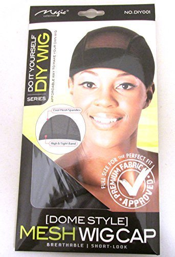 Magic Do It Yourself (Dome Style) Mesh Wig Cap, Spandex, mesh, tight band, cool mesh, breathable material, comfortable, soft, hair extensions, wig, weave, perfect fit, premium fabric, fabric by Magic Spandex Cap