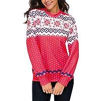 Geili Weihnachten Kostüm Damen Langarm Schneeflocke Renntier Muster Sweatshirt Pullover Bluse Frauen O-Ausschnitt... preisvergleich bei billige-tabletten.eu
