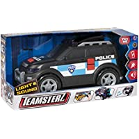 Teamsterz TZ Light and Sound Police Toy Car (Black)