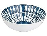 Schale 'Skagen Leaf' - blau weiß - Dekoschale - Ø 16 cm - broste Copenhagen