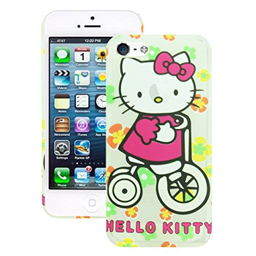 Heartly Printed Hello Kitty Design High Quality Toughr Hard Bumper Back Case Cover For Apple iPhone 5 5S 5G - DarkPink  available at amazon for Rs.199