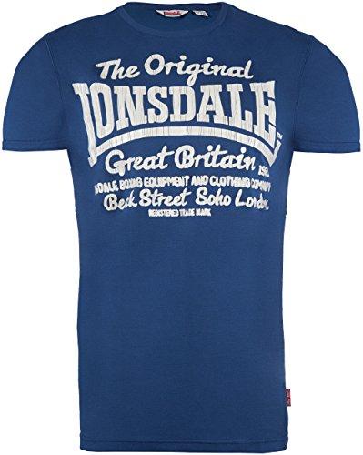 Lonsdale Herren Langarmshirt T-shirt FINTANO Stahlblau