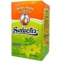 Yerba Mate Selecta Compuesta Aromatizada de Cedrón y Limón 500g