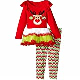2-3 years : Fulltime(TM) Kids Girls Boy Christmas Deer Dress Tops Shirt + Wavy Pant Outfit Sets