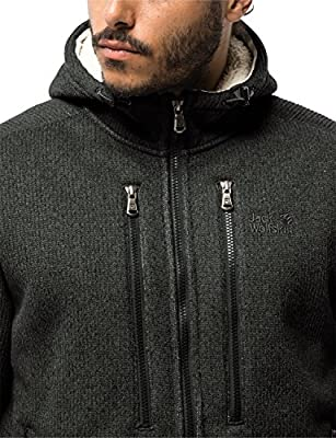 Jack Wolfskin Herren Robson Jacket Kapuzenjacke aus Strickfleece Fleecejacke von Jack Wolfskin (JACM8) - Outdoor Shop