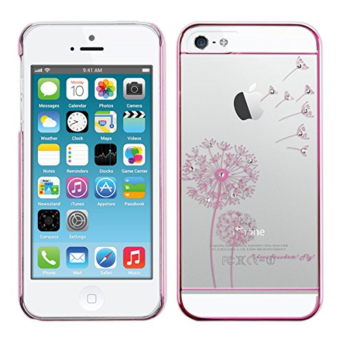kwmobile Hülle für Apple iPhone SE/5/5S - Backcover Case Handy Schutzhülle - Cover klar I love freedom Design Pink Transparent