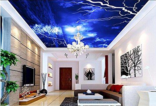 Malilove 3d Raum Tapete benutzerdefinierte Wandbild non-woven Wall Sticker Blitz blaue Wolke Wasser decke Wandbilder Fototapete für Wände 3d