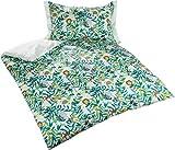 Bettwaesche-mit-Stil Mako Satin Kinderbettwäsche Dschungel Faultier AFFE Löwe (Pastell Grün, 100x135 + 40x60 cm) 100% Baumwolle