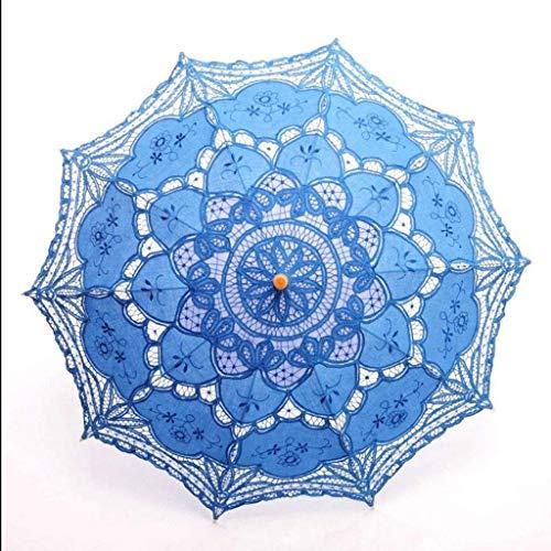 BJYG Regenschirm hochzeitsspitze Retro Braut kostüm Handwerk Spitze dekorative Foto niedlich Spitze Sonne (Farbe: b)