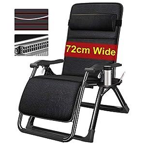 LXD Justierbare faltbare Sonne-stützende Recliner-Stühle, Entspannungs-Schwerelosigkeits-Ruheliege des Garten-im Freien mit Kissen, Unterstützung 150Kg