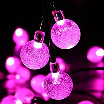 Ytmtm 200 leds 20m pink solar powered fairy string lights 30 led patio outside string lights 20 ft waterproof indooroutdoor solar powered fairy lighting great garden terrace patio outside xmas lights pink aloadofball Images