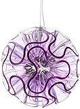 QisDESIGN by BenQ LED Hängeleuchte Coral Suspension, violet 9H.W1KQD.WQ3