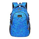 Super Modern Unisex Nylon Schule Rucksack Laptop Tasche für Teen Mädchen und Jungen Cool Spider Grid Sport Rucksack Outdoor Tasche Reise Rucksack für Männer und Frauen Größe L blau