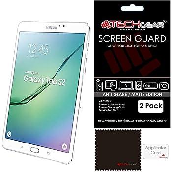 [Pack de 2] TECHGEAR® Samsung Galaxy Tab S2 8.0 Pouces (SM-T710 / SM-T715) Film Protecteur d'Écran ANTI-REFLET / MAT Avec Chiffon de Nettoyage et Carte d'Application