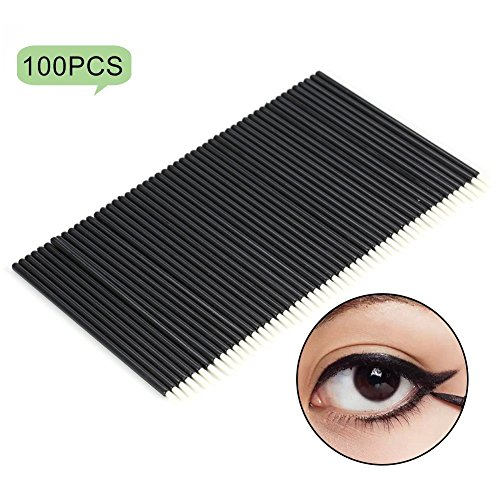 100 PCS Styles Fibre Synthétiques Eyeliner Wands Applicator Eyeliner Lip Liner Pinceaux