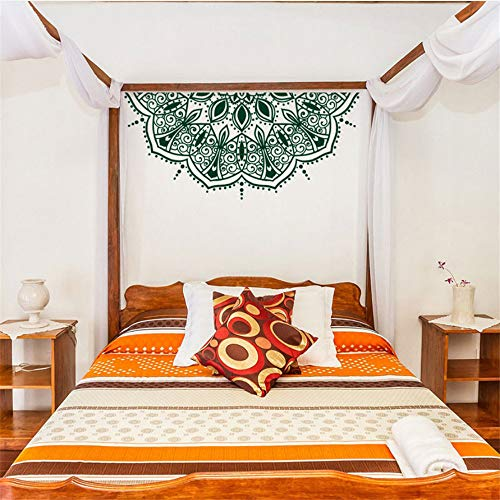 Zxfcccky Mode Wandaufkleber Blume Mandala Wall Decal Halbe Mandala Wand Aufkleber Niedliche Auto Aufkleber Sticker Tisch Schablone Marokkanischen Dekor Diy