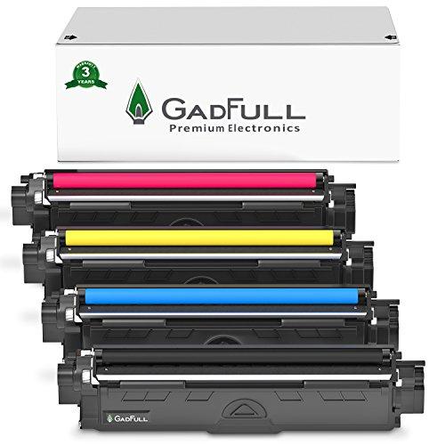 GadFull 4 Pack Toner kompatible mit Brother HL-3142CW | HL-3152CDW | HL-3172CDW | DCP-9022CDW | MFC-9142CDN | MFC-9332CDW | MFC-9342CDW | Entspricht dem Original TN-242 / TN-246 | 2500 Seiten -