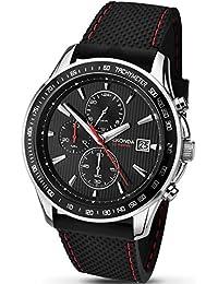 SEKONDA Unisex-Adult Quartz Watch, Chronograph Display and Rubber Strap 1005.27