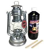 Feuerhand 276 - Lanterna zincata, 1 litro di olio per lampada + 2 stoppini di ricambio