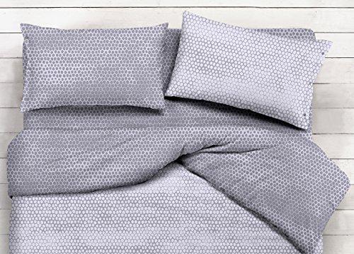 Coppia federe cuscino letto fantasia bon bon federe grigio